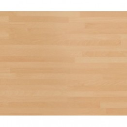1500 x 600 x 30mm Natural Blocked Beech - Matt