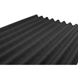 2000mm x 900mm x 2.8mm Corrugated Onduline Black