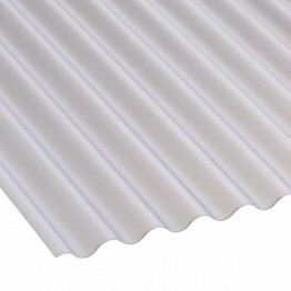 "2135mm x 762mm PVC 3"" Corrugated Clear Lightweight"