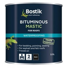 Bostik Bituminous Roofing Mastic - 2.5L