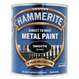 Hammerite Smooth Black - 750ml