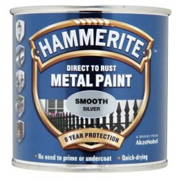Hammerite Smooth Silver - 250ml