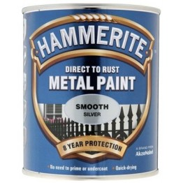 Hammerite Smooth Silver - 750ml