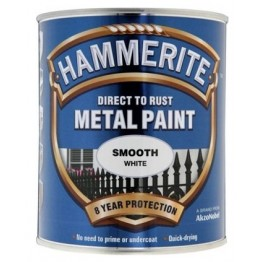 Hammerite Smooth White - 750ml