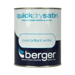 Berger Pure Brilliant White Quick Dry Satin - 2.5L
