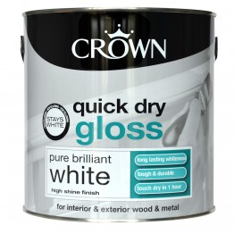 Crown Pure Brilliant White Quick Dry Gloss - 750ml
