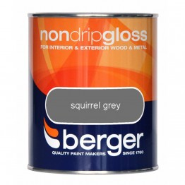 Berger Non Drip Gloss Squirrel Grey - 750ml