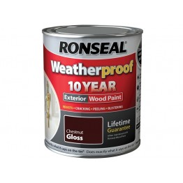 Ronseal Exterior Wood Paint Chestnut Gloss - 750ml