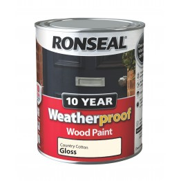Ronseal Exterior Wood Paint Country Cotton Gloss - 750ml