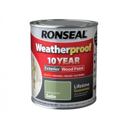 Ronseal Exterior Wood Paint Spring Green Satin - 750ml