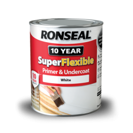 Ronseal Super Flexible Wood Primer & Undercoat White - 750ml