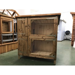 4' x 2' Double Storey Rabbit Hutch