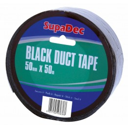 SupaDec Black Duct Tape - 50M x 48mm